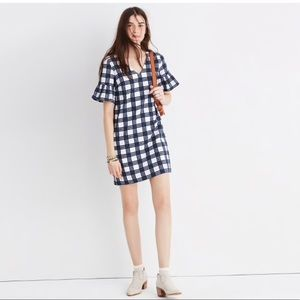 Madewell bell sleeve dress - Leighton plaid